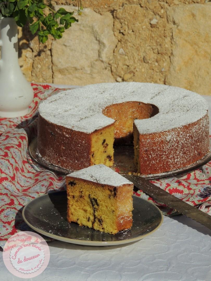 Gâteau nuage aux blancs d'œufs ~ Huile d'olive, Orange & Chocolat