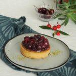 Tartelettes cerise griottes & pistache ~ Confit de cerise & crème de pistache