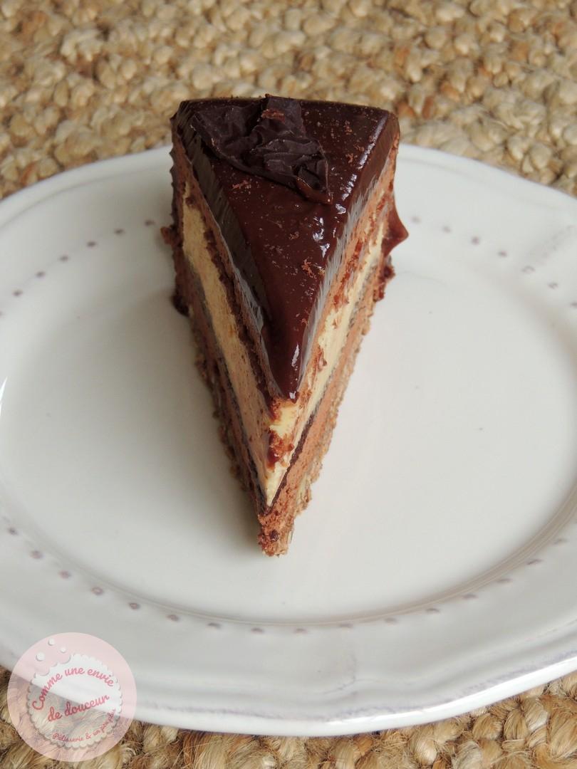entremets symphonie chcolat noir 75% crème brulée vanille