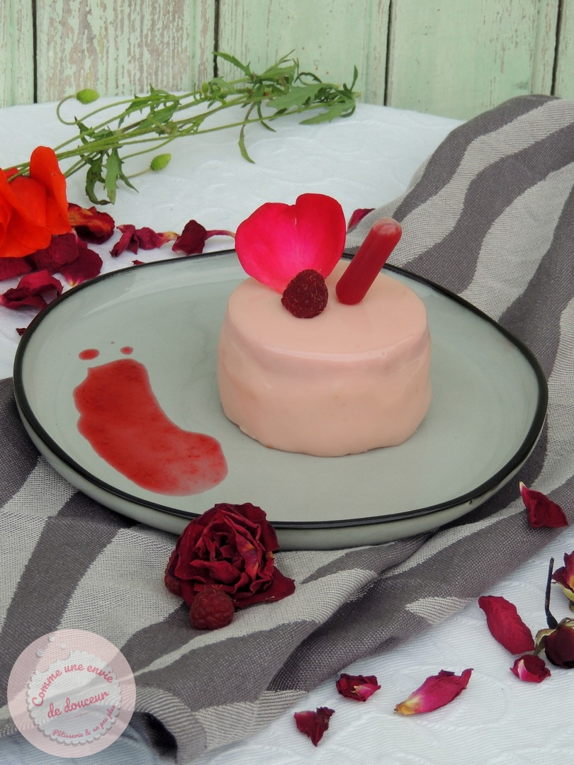 Entremets parfum d'Ispahan ~ Framboise, Litchi & Rose