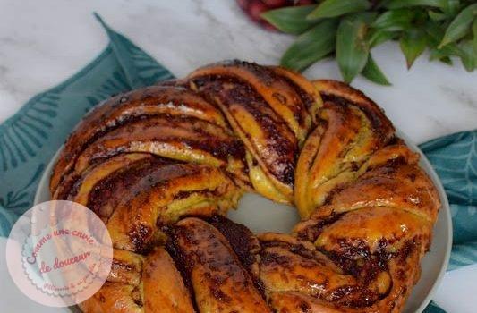 Babka gourmande ~ Pistache & cerise