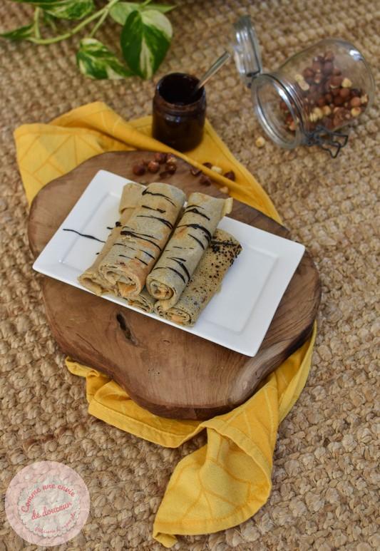 Crêpes à la noisette ~ Pâte  tartiner chocolat noisette