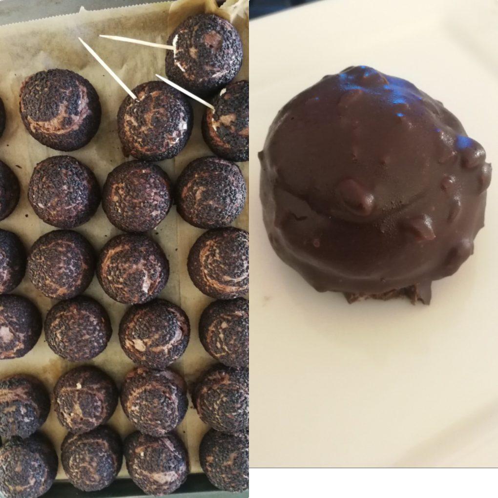 choux chocolat caramel tonka