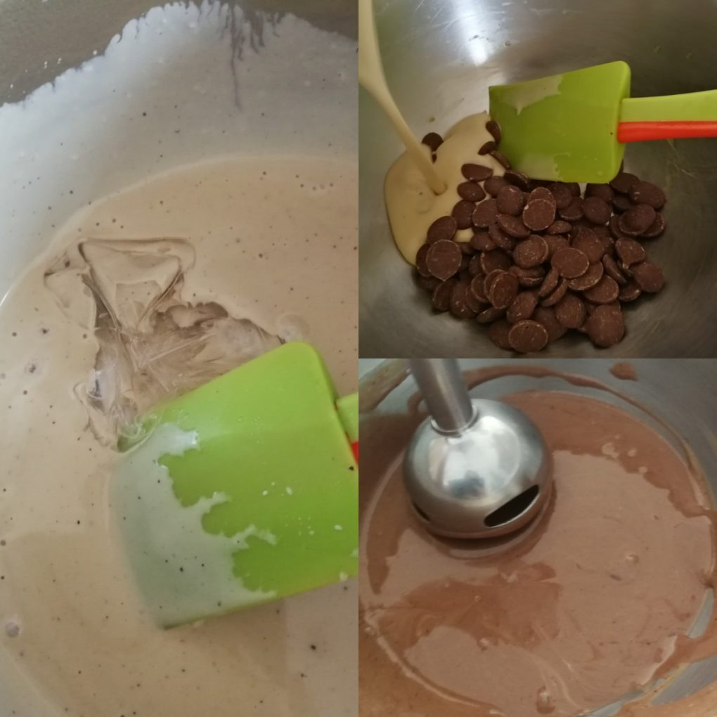 Crémeux au café et chocolat au lait