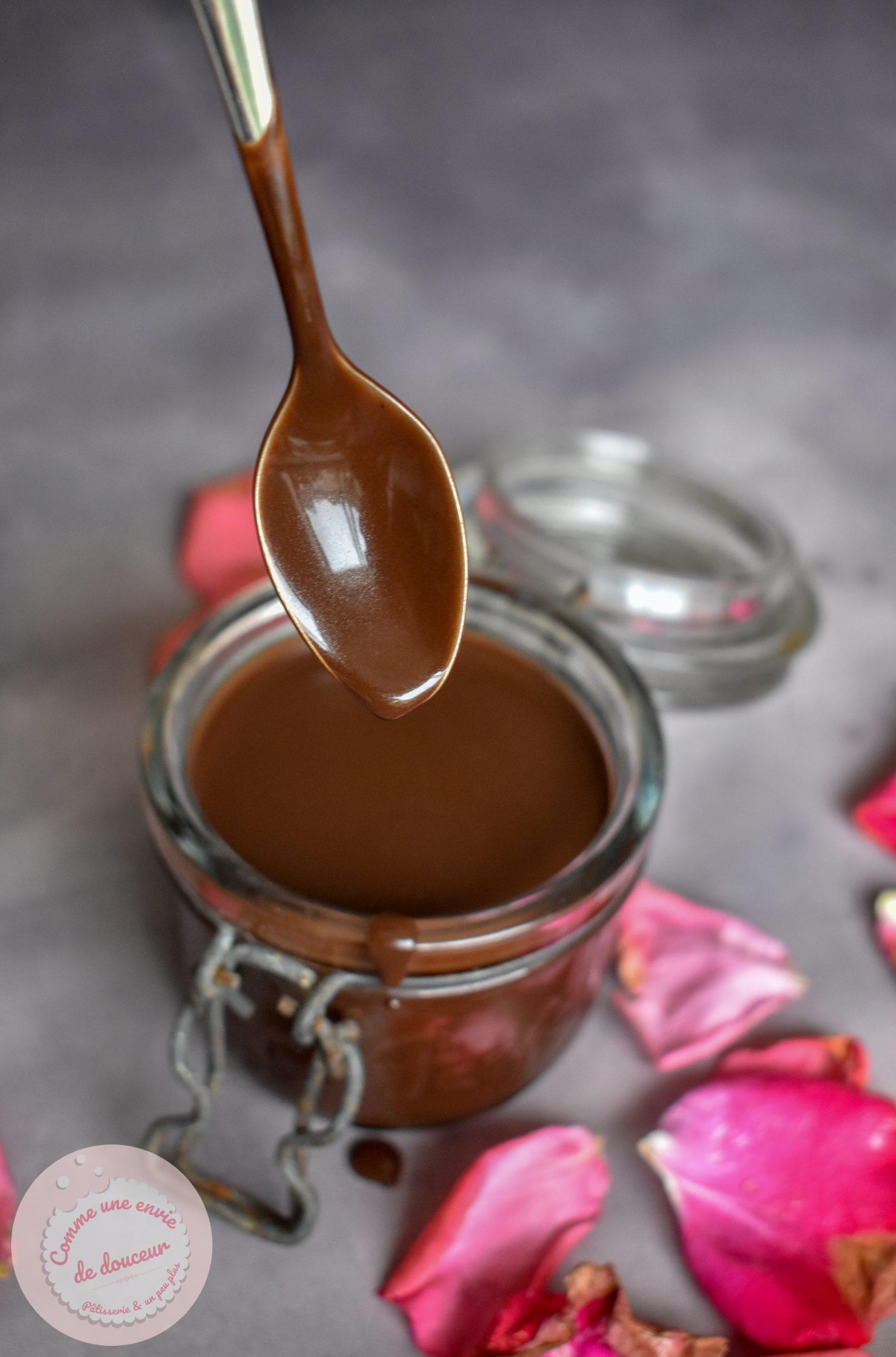 mousse menthe coulis chocolat
