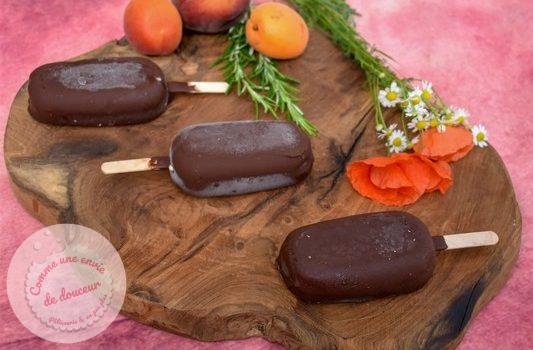 Esquimaux ~ Pêches & abricots rôtis miel romarin