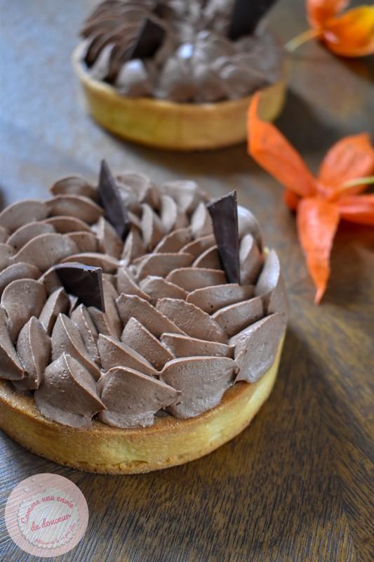 Tarte crémeux café ~ Ganache montée chocolat noir