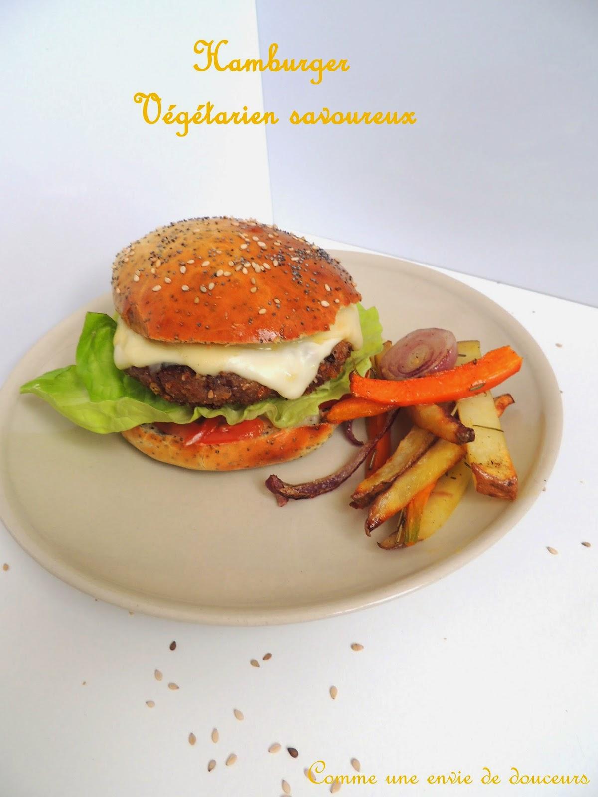 Buns & hamburger végétarien savoureux – Home made buns & veggie burger