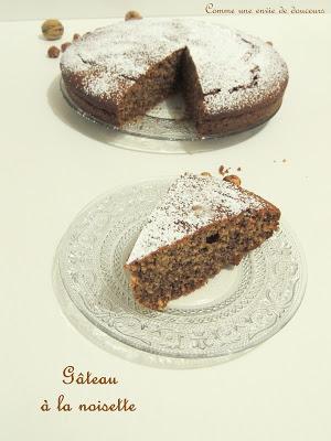 Gâteau aux noisettes – Hazelnut cake