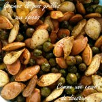 Graines et pois grillés – Grilled peas and seeds