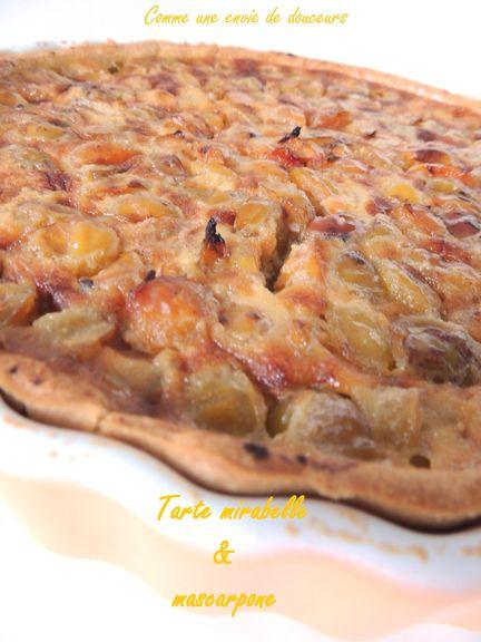 Tarte aux mirabelles – Mirabelles plums pie