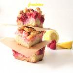 Lemon & raspberries crumble bars (barres citron & framboises façon crumble)