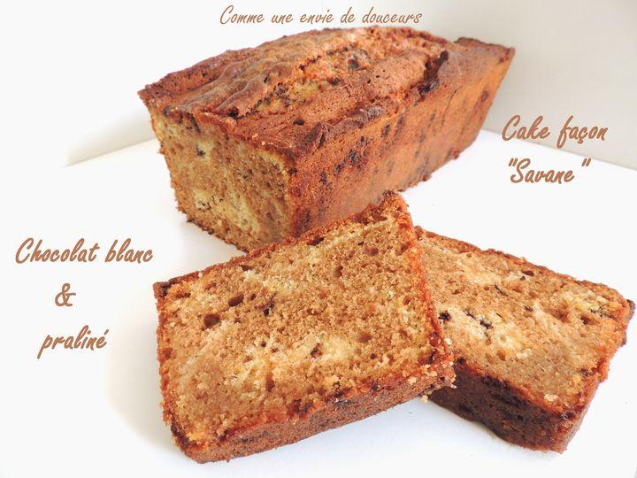 "Cake façon ""Savane"" praliné & chocolat blanc"