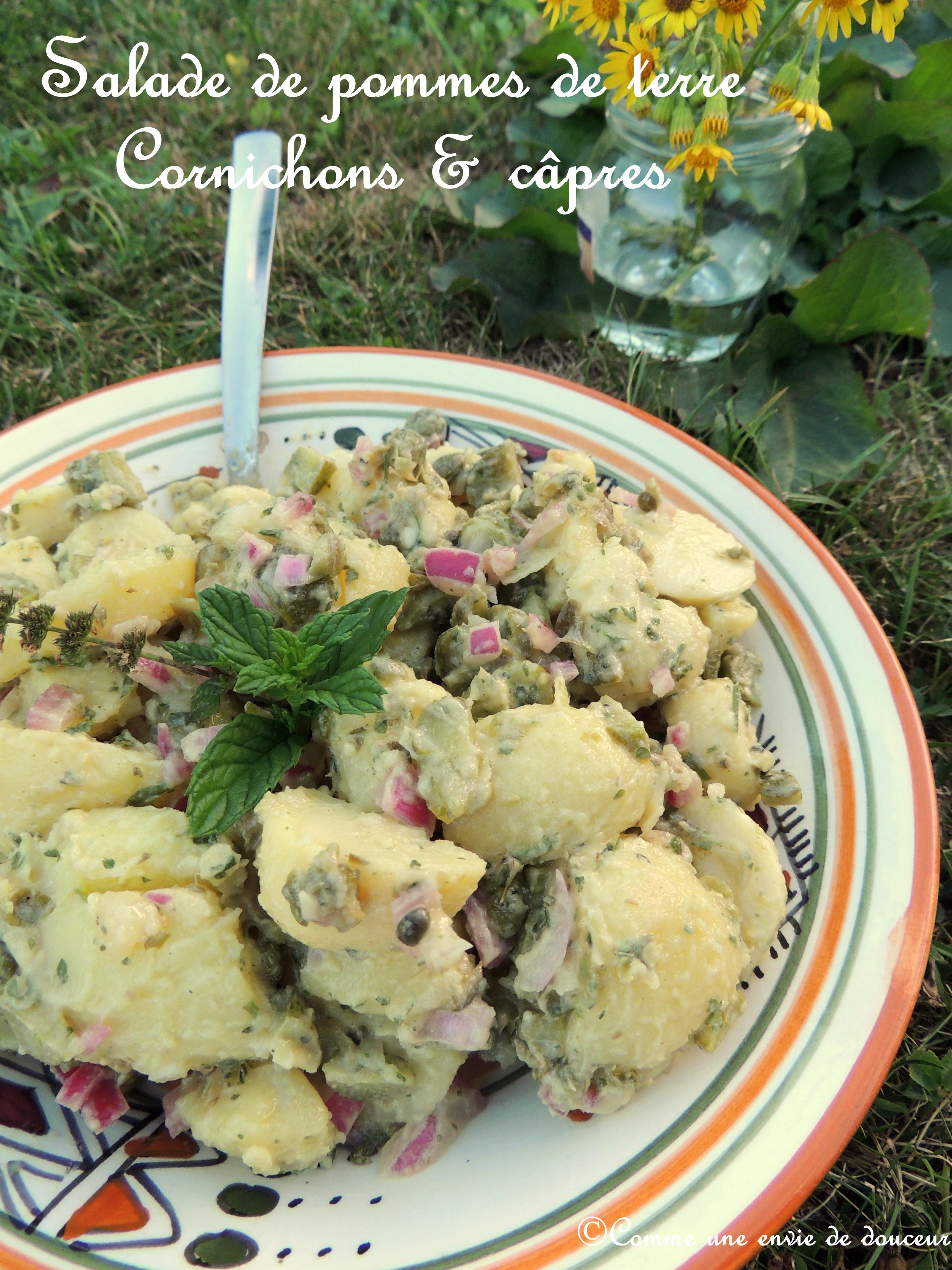 Salade de pommes de terre câpres & cornichons – Capers & gherkins potato salad