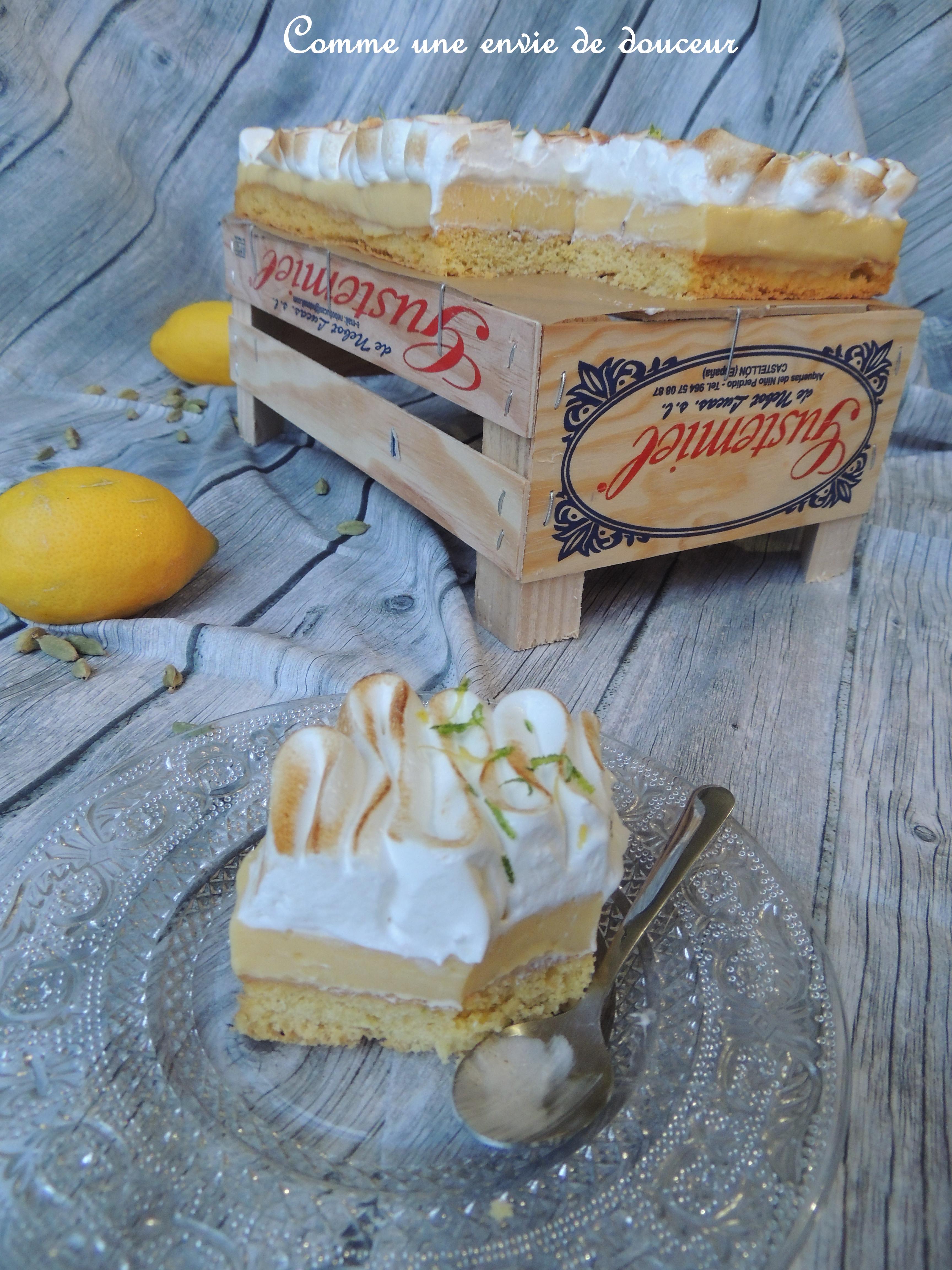 Tarte au citron & cardamome meringuée – Lemon & cardamom meringue pie