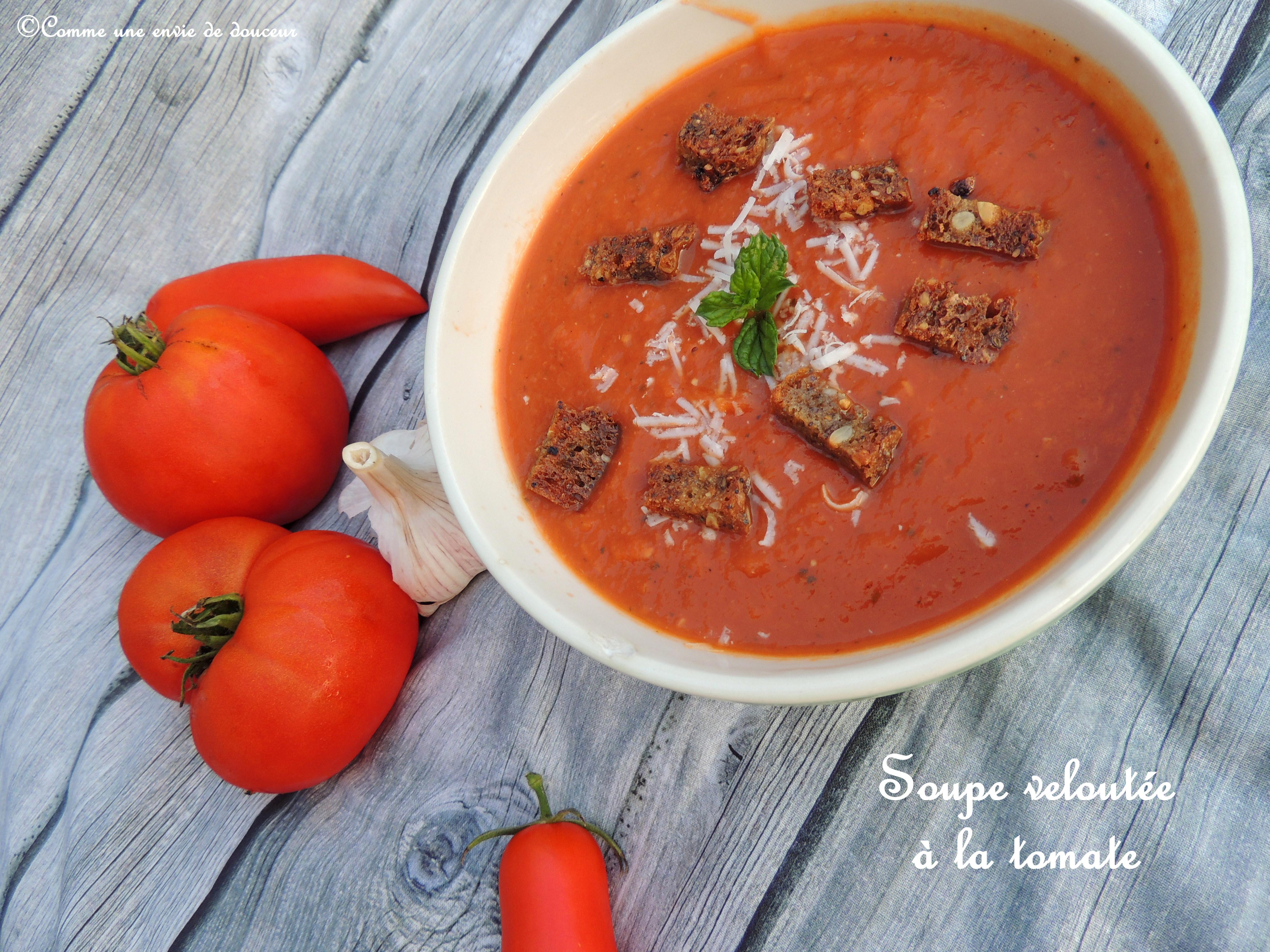 Soupe à la tomate – Tomato soup