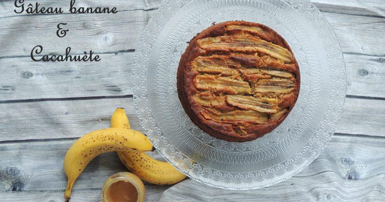 Gâteau à la banane & cacahuète – Banana & peanut cake