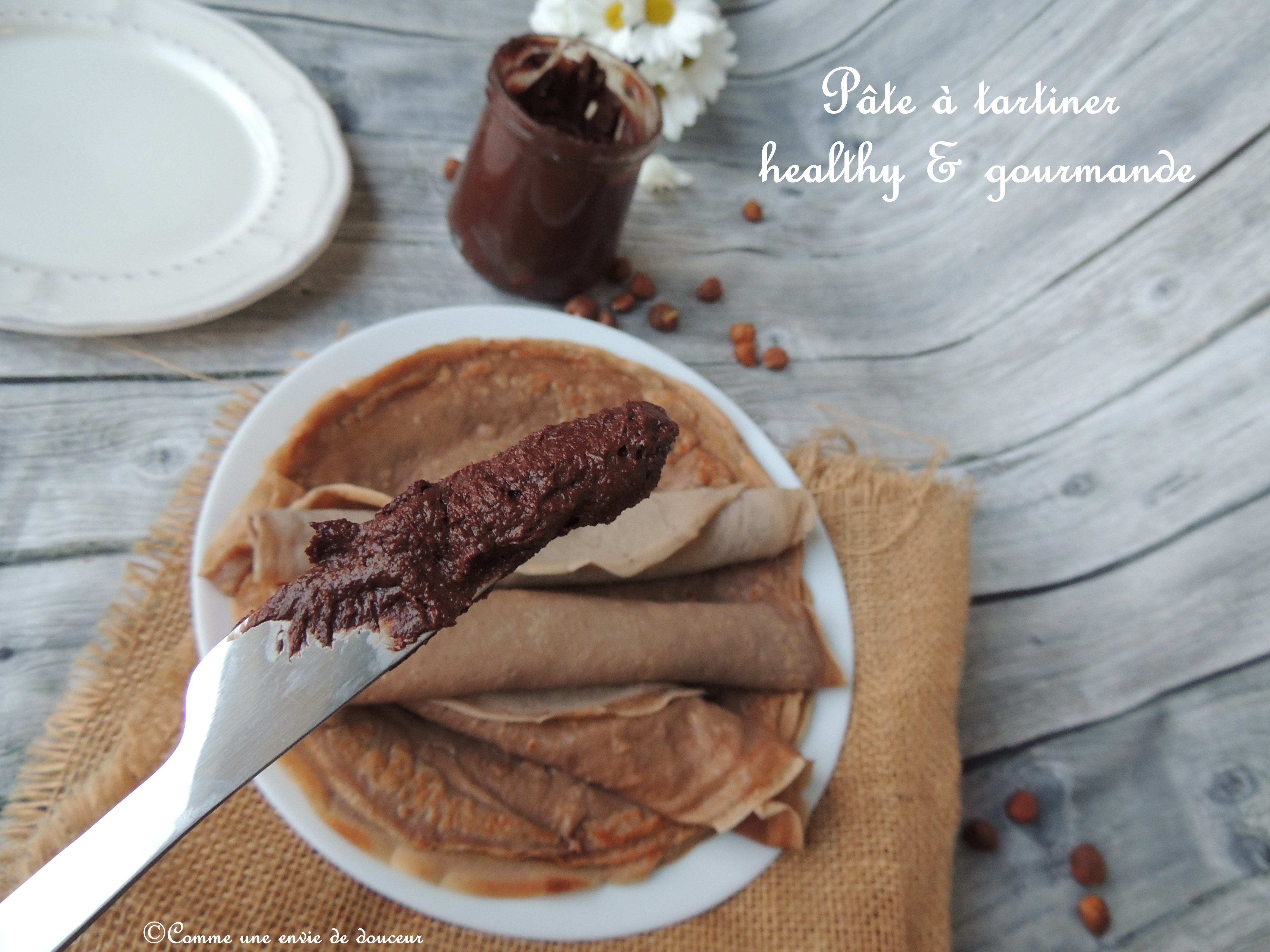 Pâte à tartiner & crêpes aux deux farines – Chocolate spread & two flours'crepes