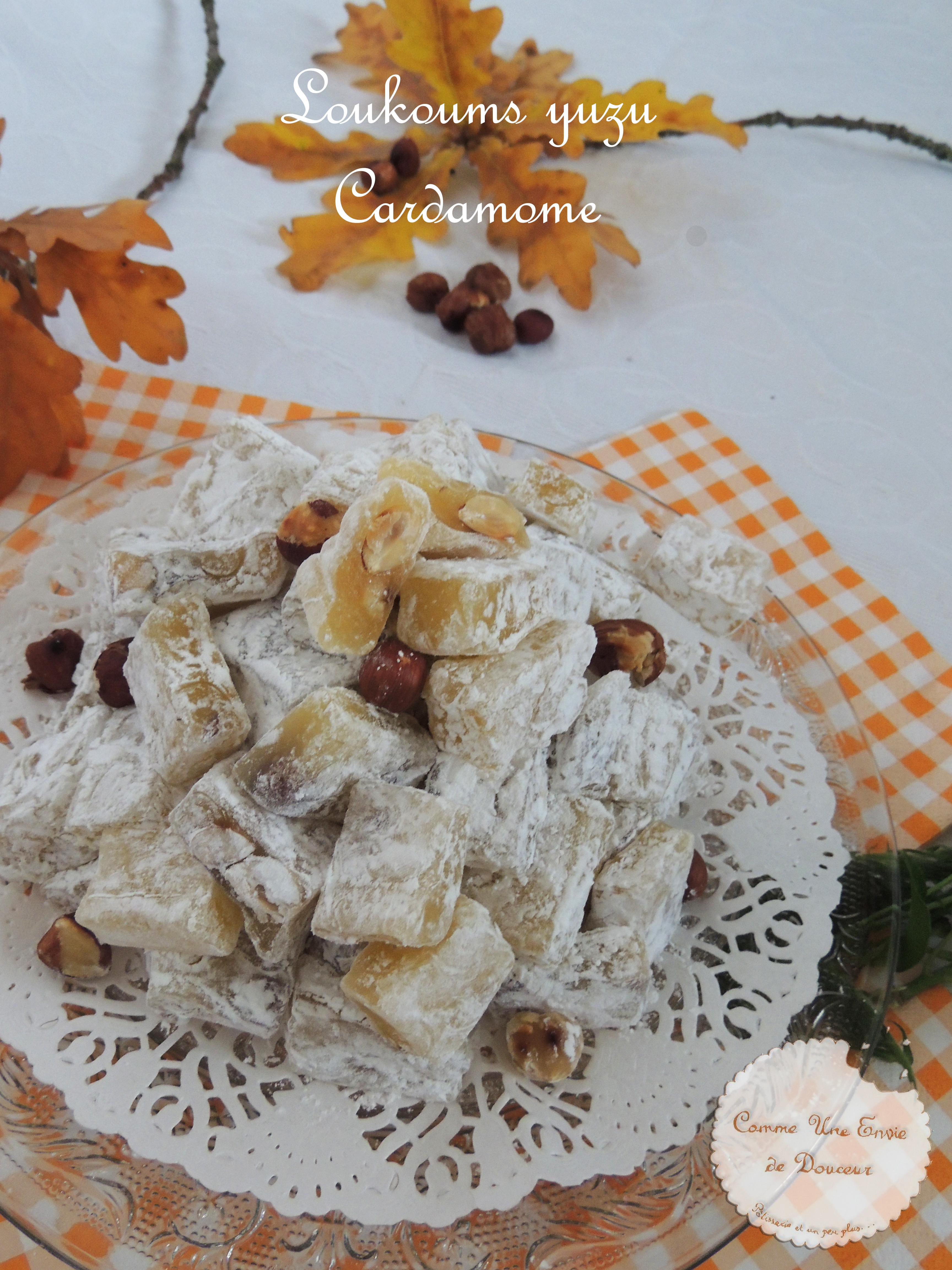 Loukoums noisette yuzu – Halzelnut & yuzu turkish delight