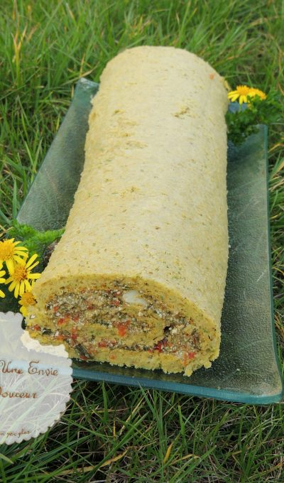 Roulé oseille poivron – Roll cake sorrel & pepper