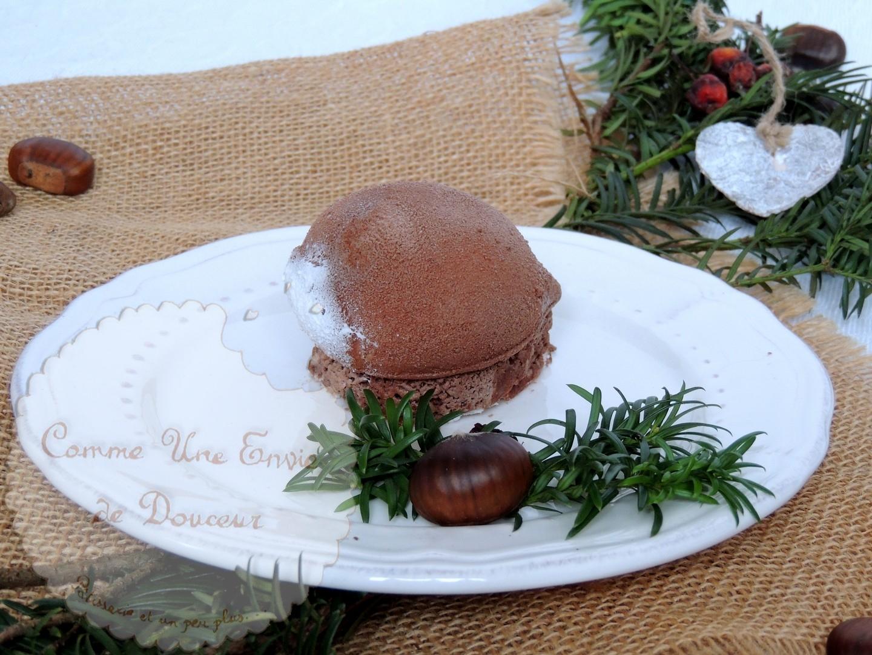 Entremets marron cassis – Chestnut blackcurrant cake
