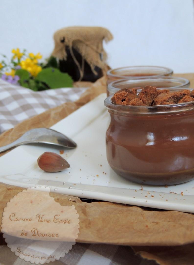Panna cotta chocolat noir sur lit de caramel au rapadura ~ Dark chocolate panna cotta & caramel