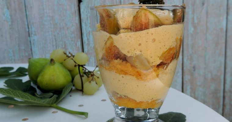 Tiramisu mi figue mi raisin – Foodista challenge #44 ~ Half fig half grapes tiramisu