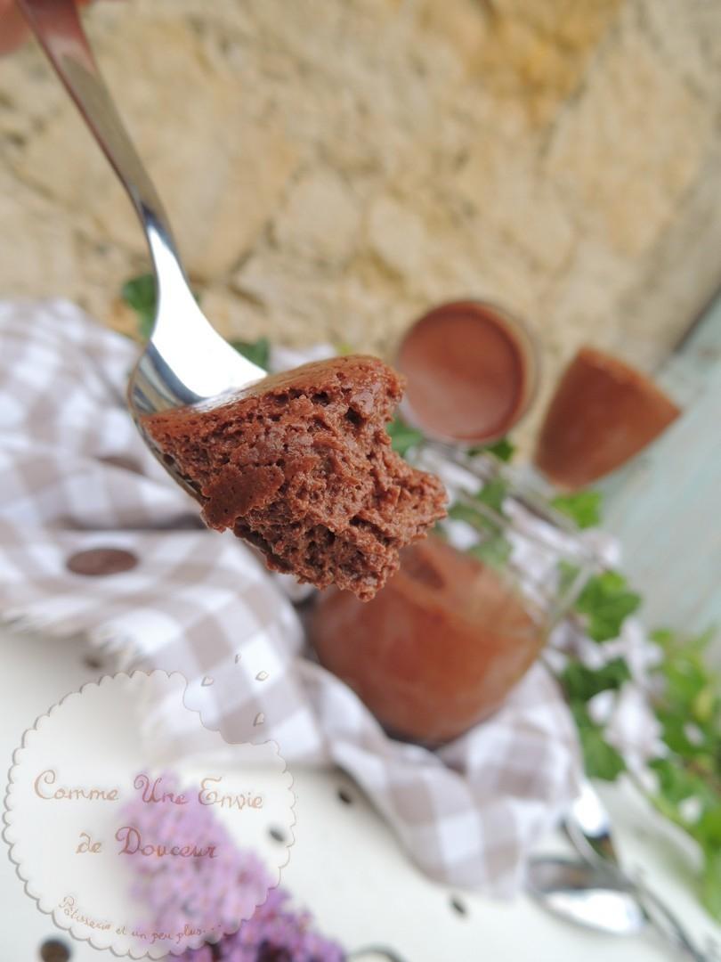 Mousse légère au chocolat & lait de coco – Light coconut milk chocolate mousse