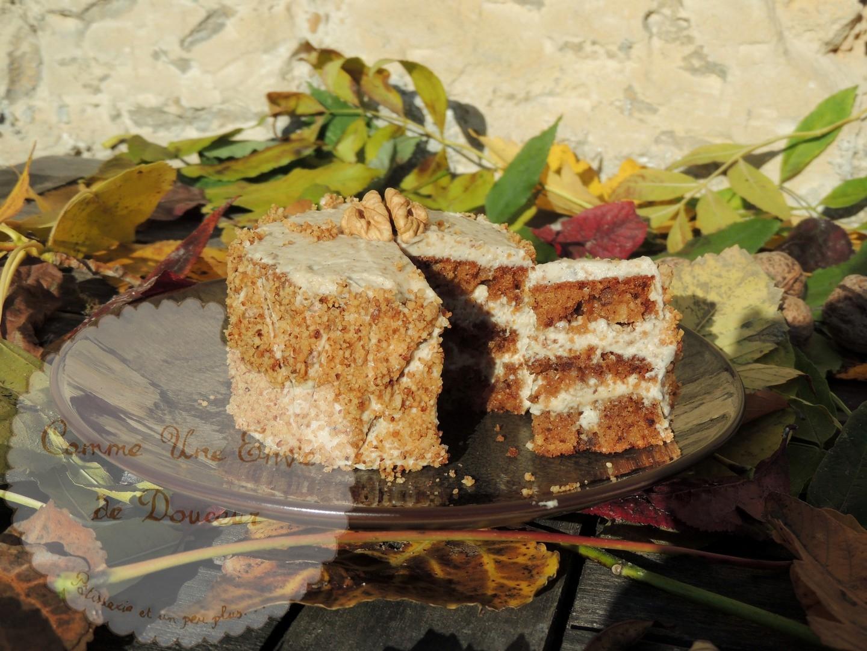 Cake douceur de noix & café ~ Walnut & coffee cake