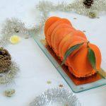 Bûche Marrontine ~ Clementine & chestnut log