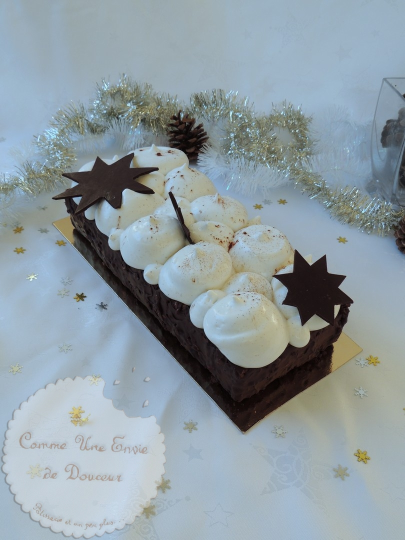 Qui café la bûche ? ~ Chocolate & coffee Xmas log