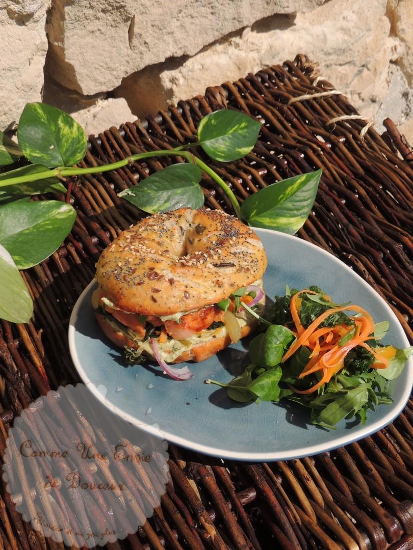 Bagels au saumon façon asiatique 100% maison