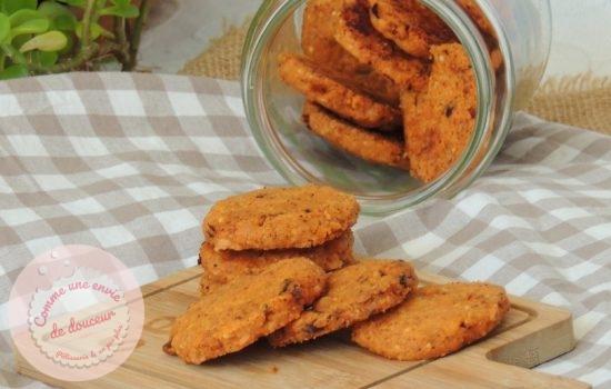 Biscuits apéro sablés ~ Chorizo paprika & cheddar