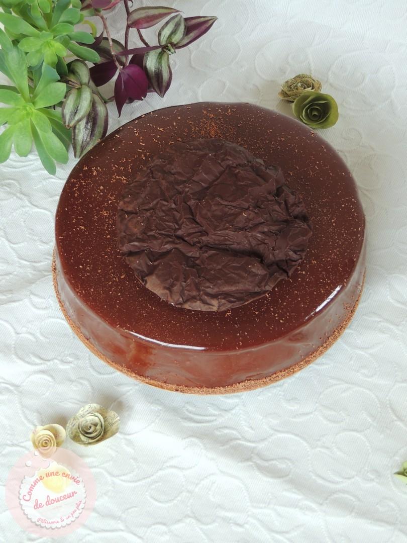 Entremets symphonie ~ chocolat crème brûlée