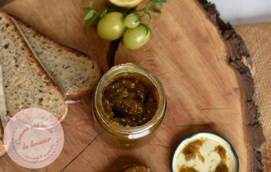 Confiture de tomate verte ~ Citron cardamome ou pain d'épice