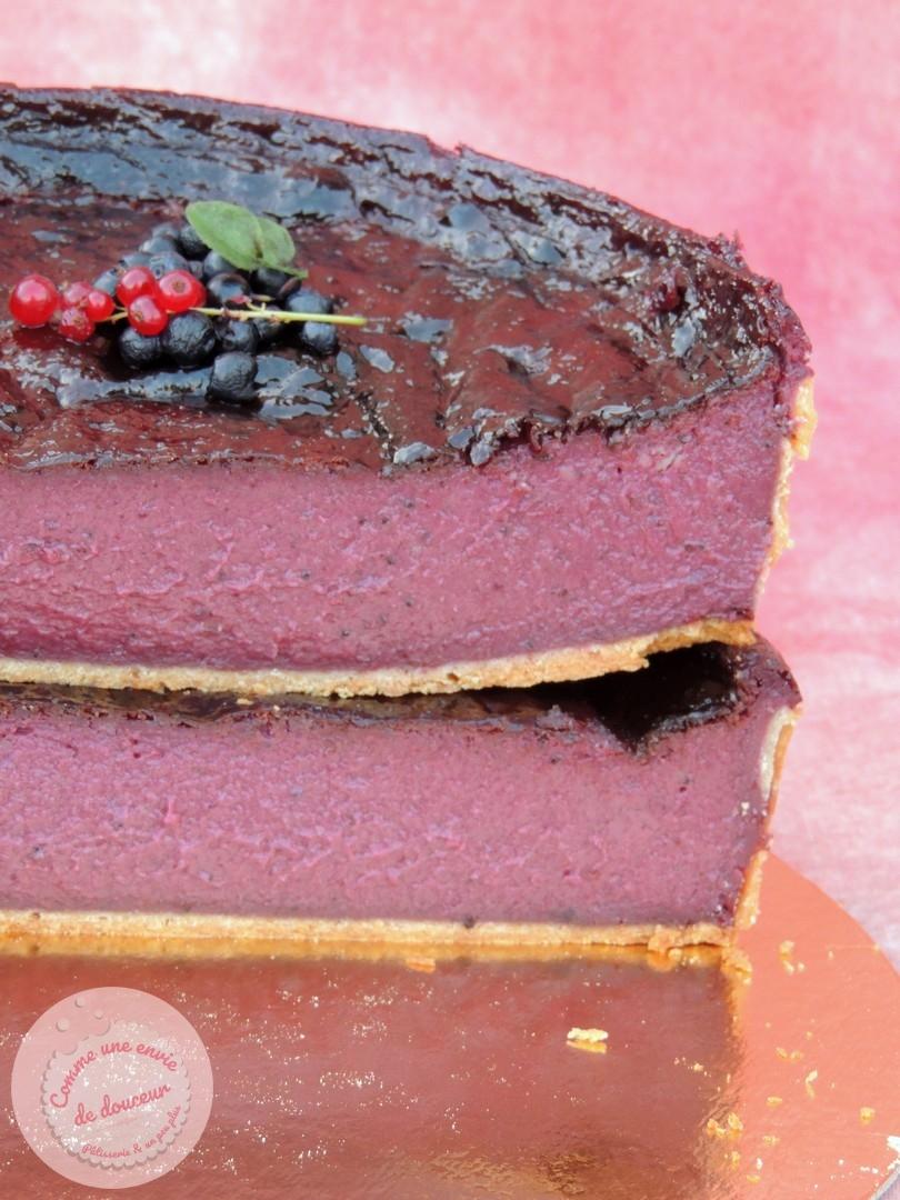 Flan pâtissier ~ Myrtille, cassis & framboise