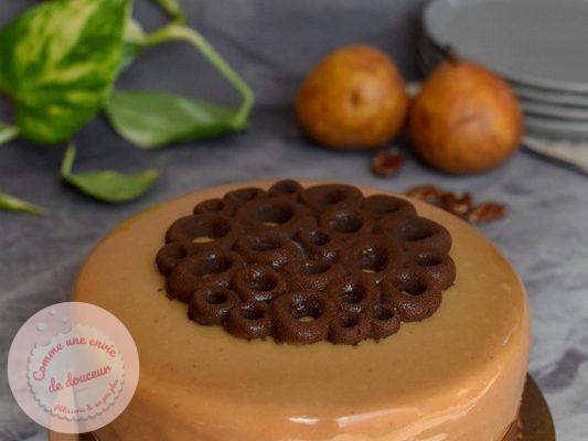 Entremets ~ Poire & noix de pécan